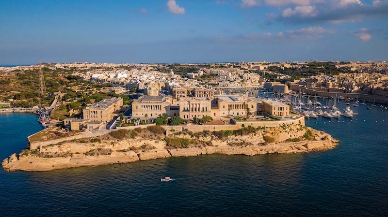 Coldest places in Malta by minimum mean temperature