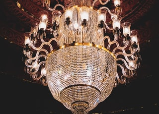 lighted crystal chandelier