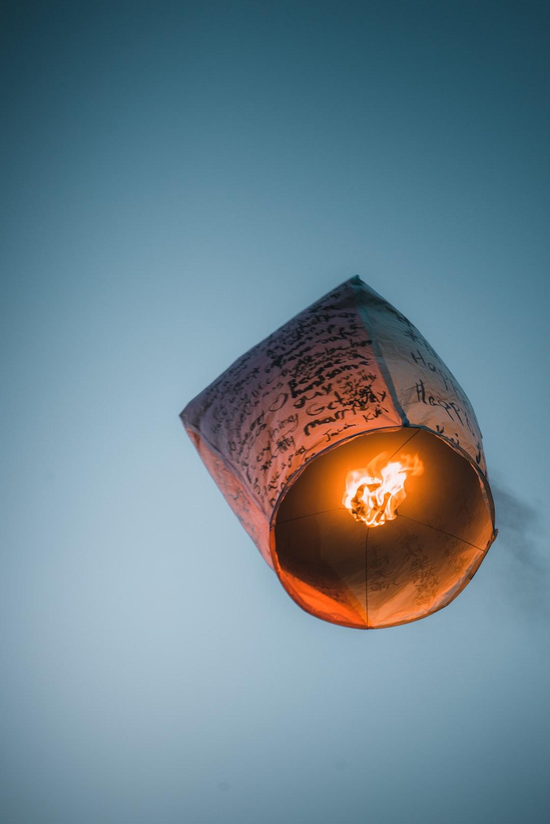 Sky lantern, Shifen, Taiwan