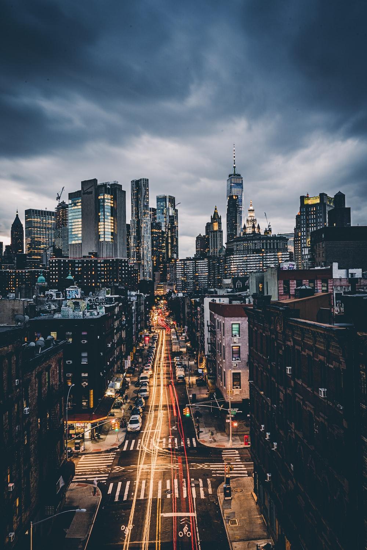 skyline city scenery