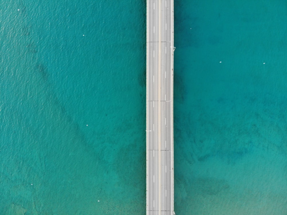 aerial photography of grey bridge