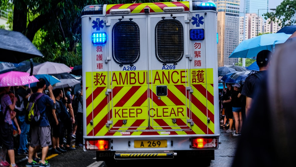 white Ambulance vehicle