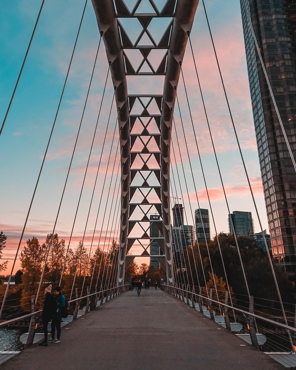 gray concrete bridge at daytime
