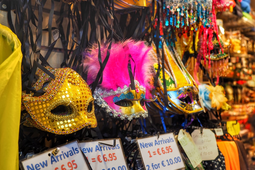 assorted color masquerade masks
