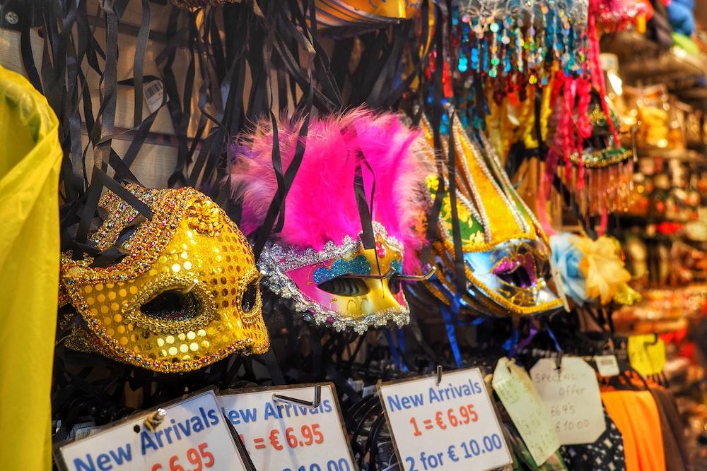 assorted color masquerade masks