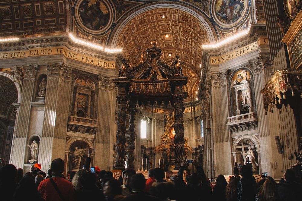 group of person inside the cathedral