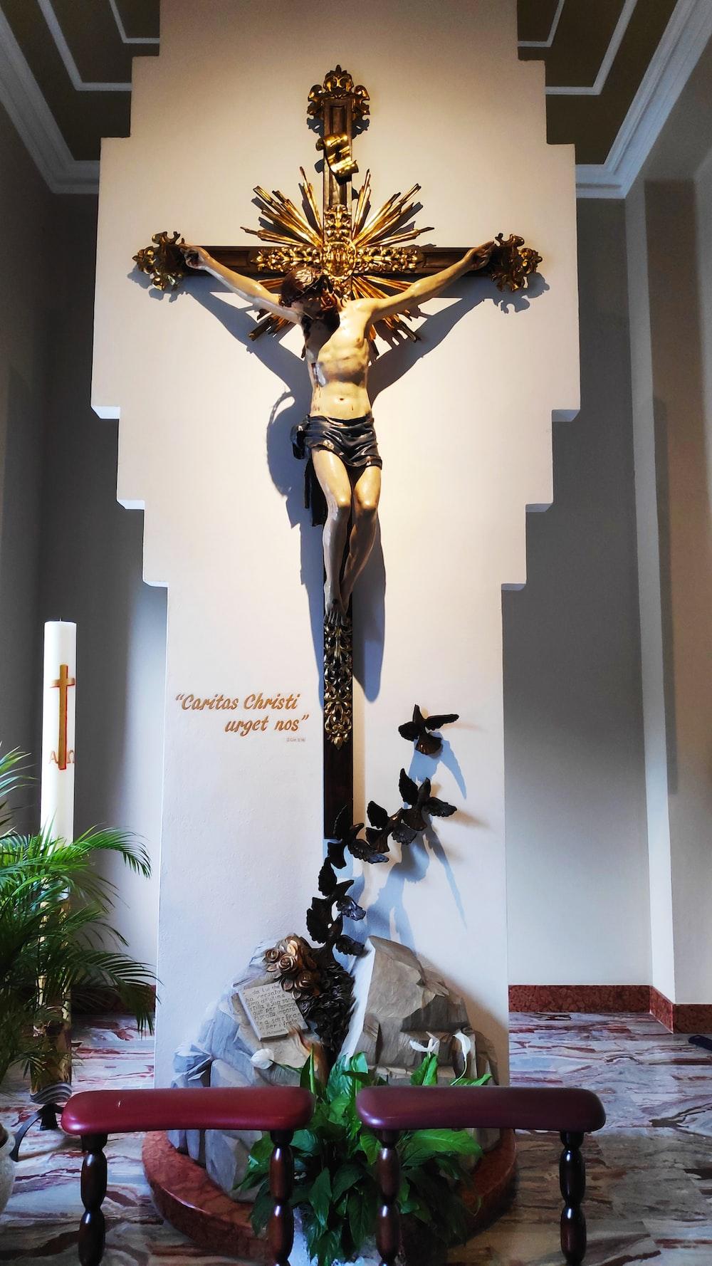 crucifix in building