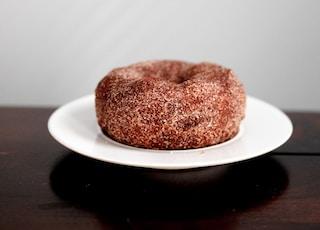 doughnut on white plate