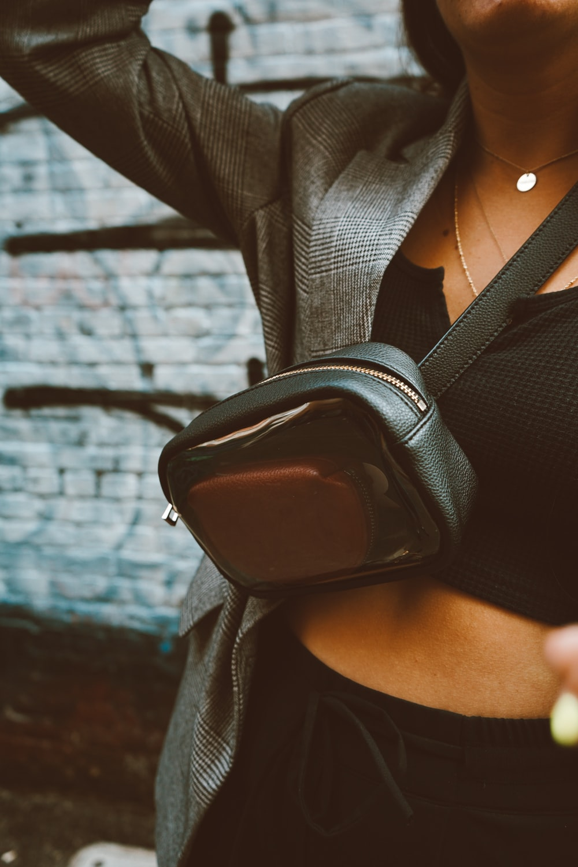 woman with crossbody bag