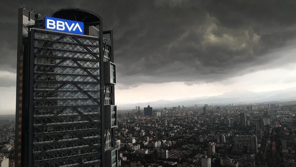 black BBVA building