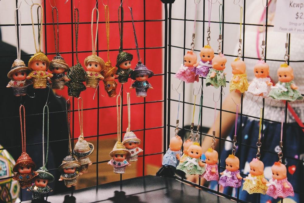 hanged baby dolls keychain