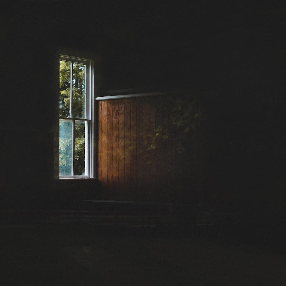 closed 4-pane window