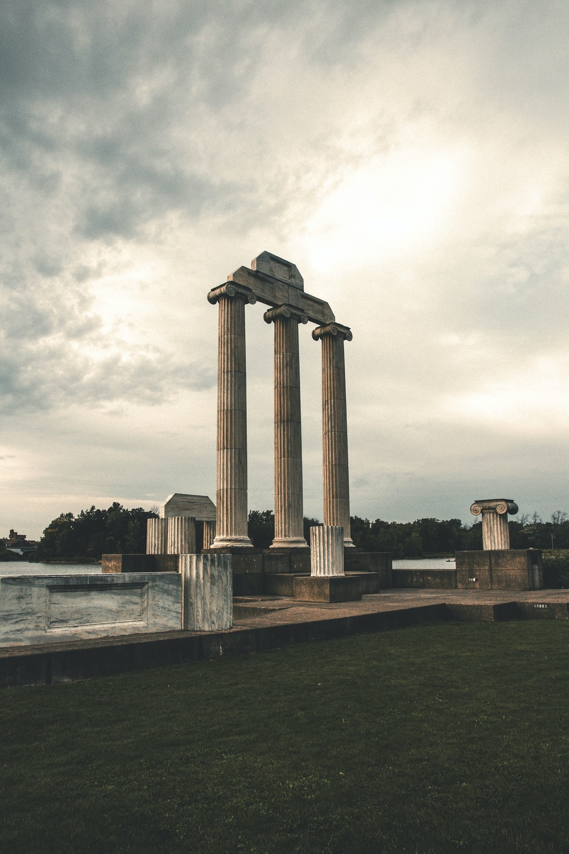 white Roman temple during daytime