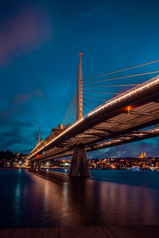 gray concrete bridge near oceasn