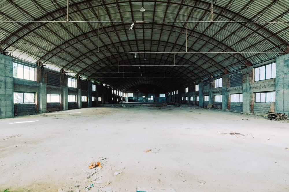 empty field inside building