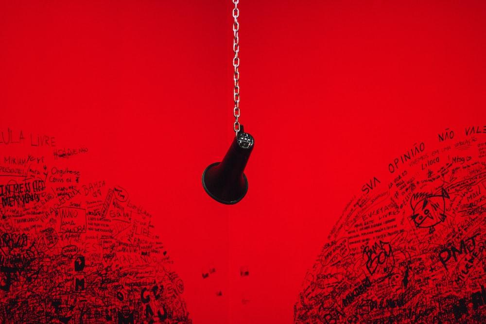 black horn hanging