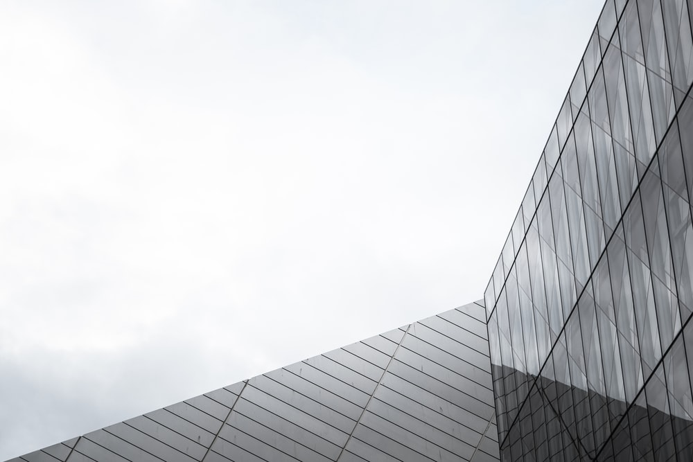 gray metal and glass building