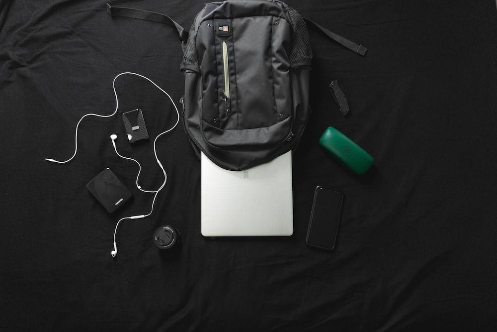 black canvas back pack