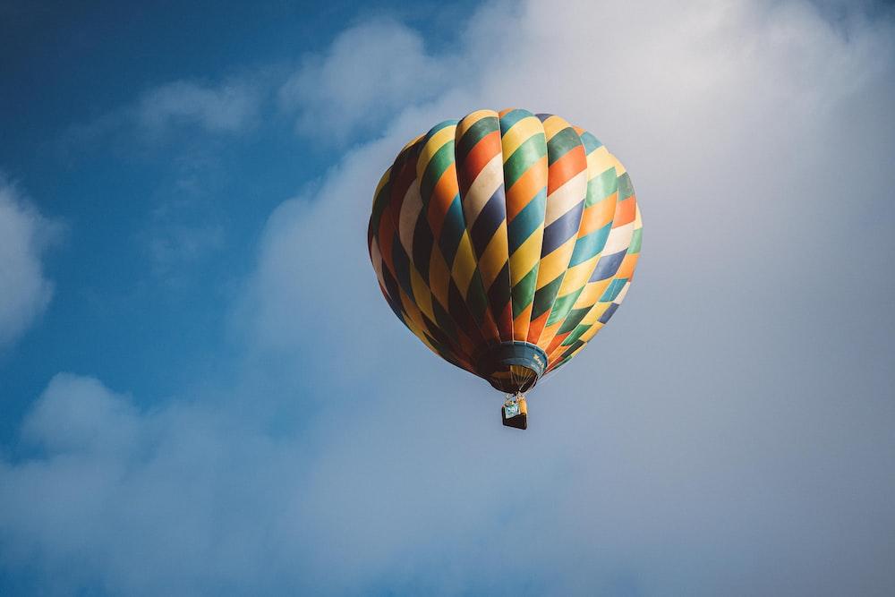 multicolored hot air balloon
