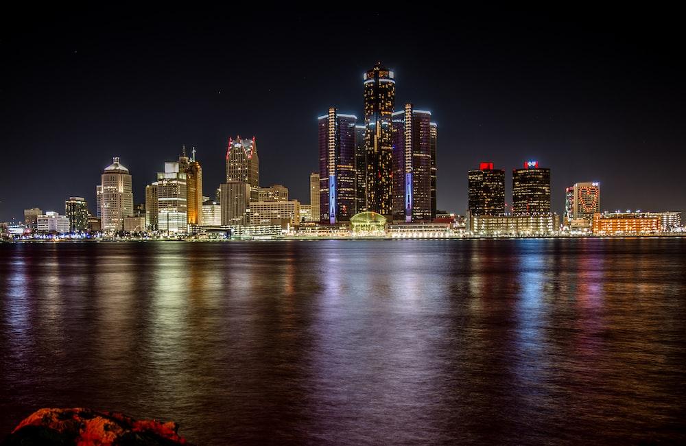 cityscape at night