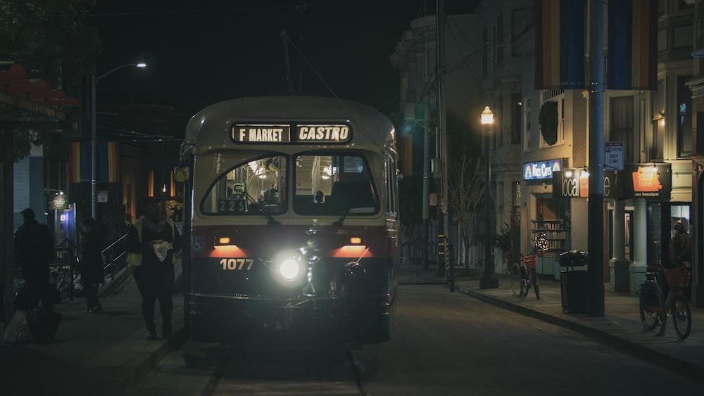 tram on railway