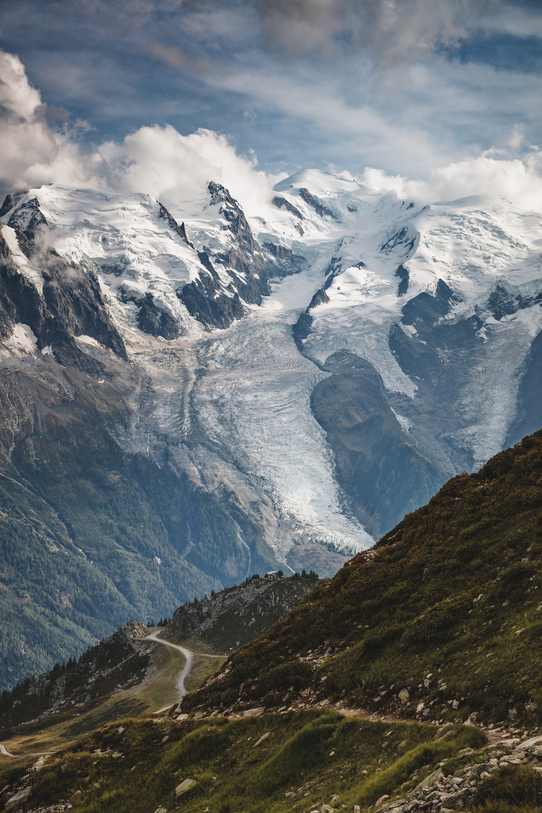 Montblanc and the glaciers