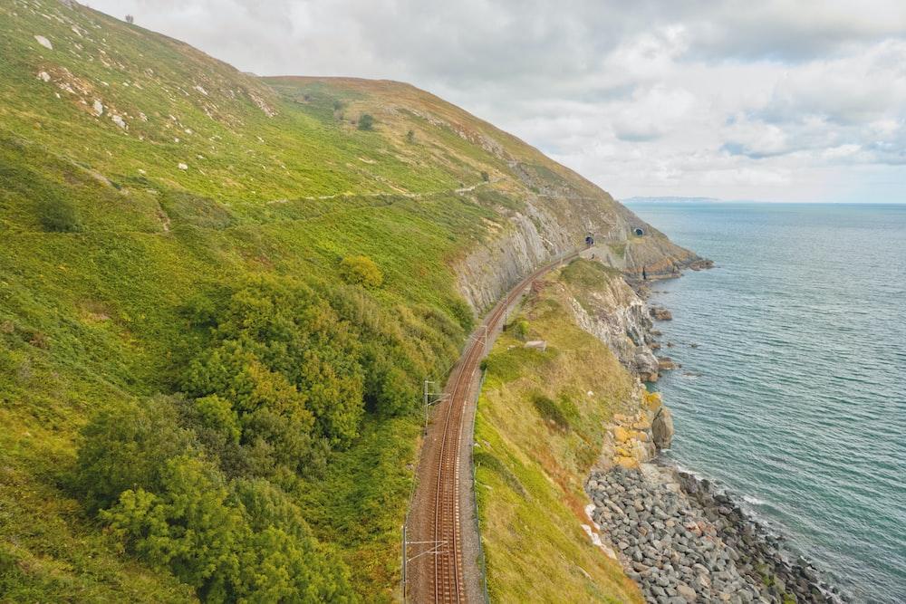 railroad near body of water