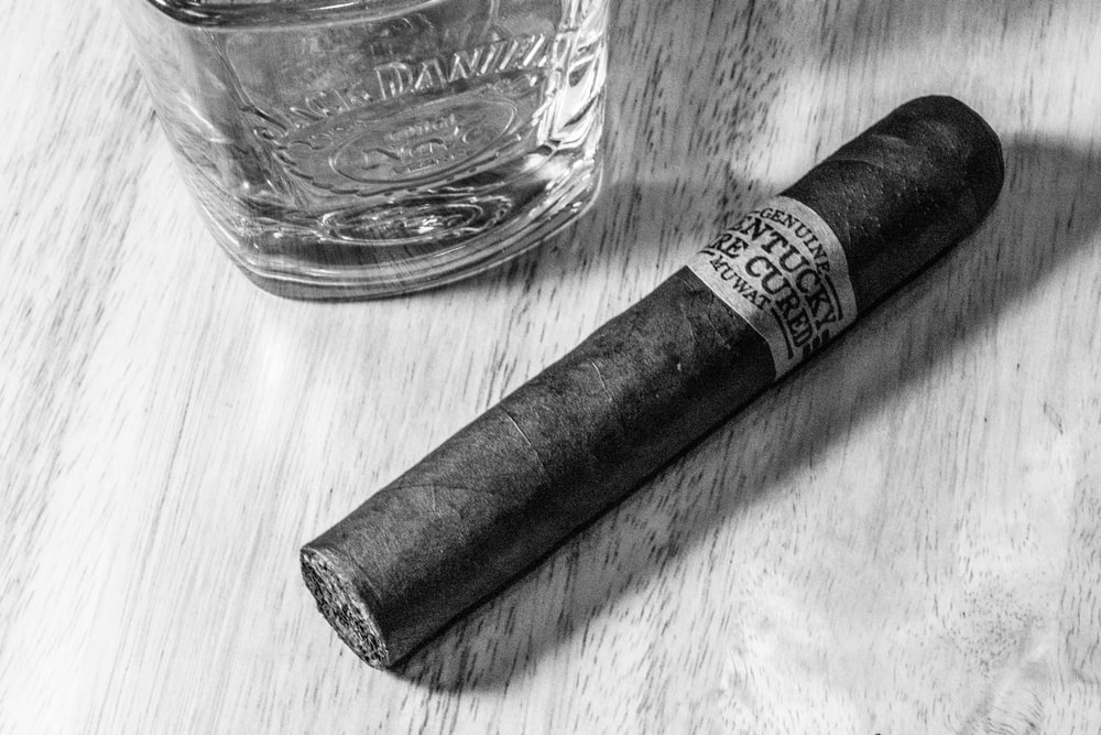 grayscale photography of tobacco