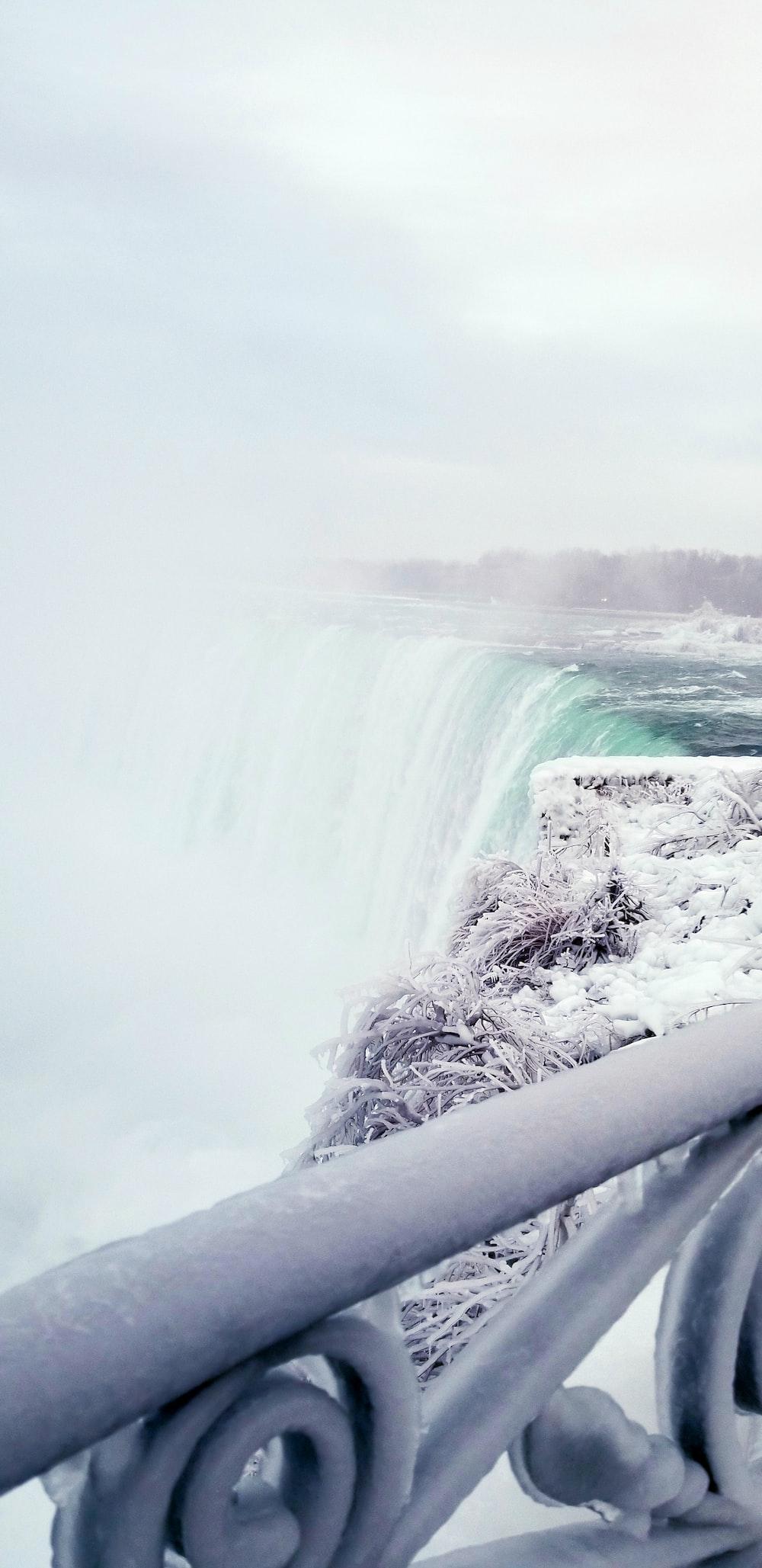close view of waterfalls during daytime
