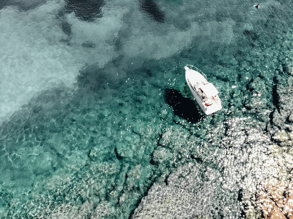 white boat photography