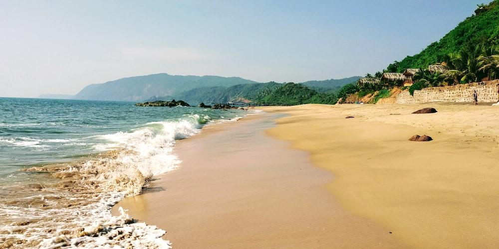 photo of sea shore