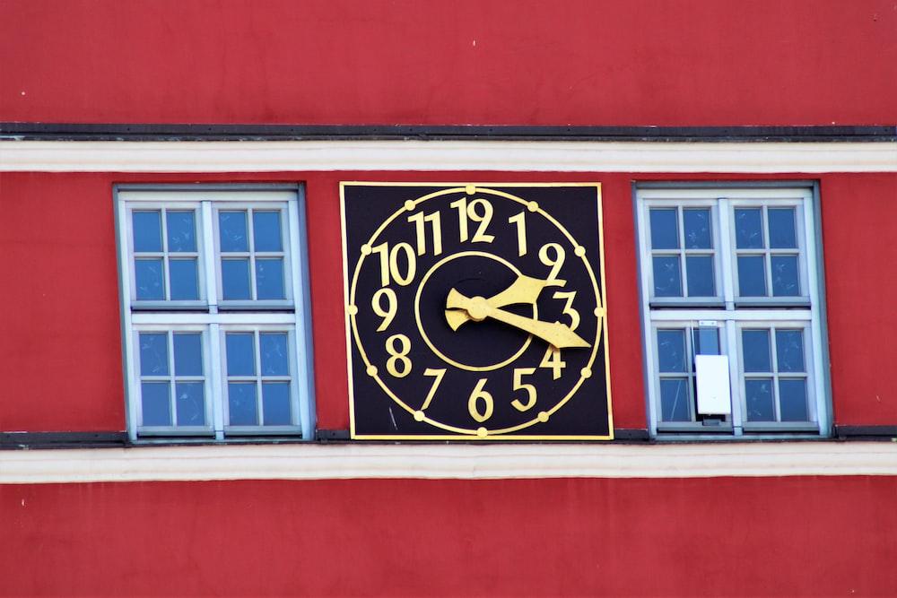 clock at 2:18