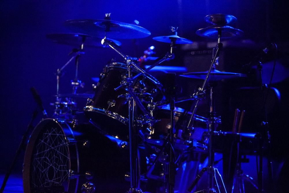 multicolored drum set