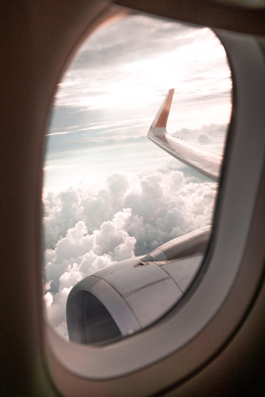 clear plane window