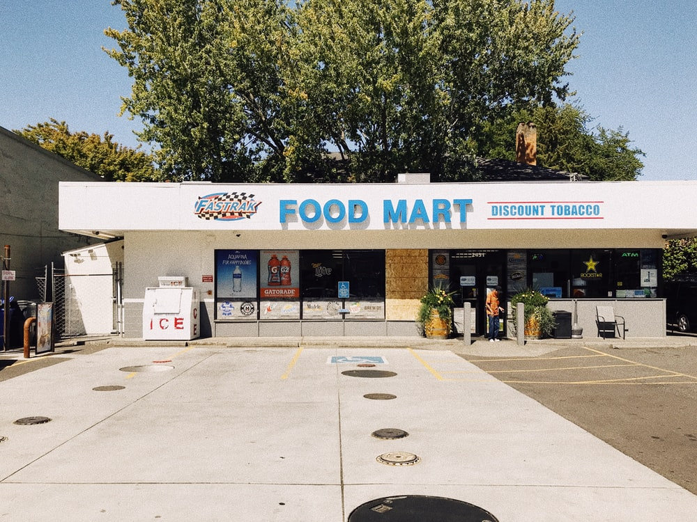 Food Mart shopfront during day