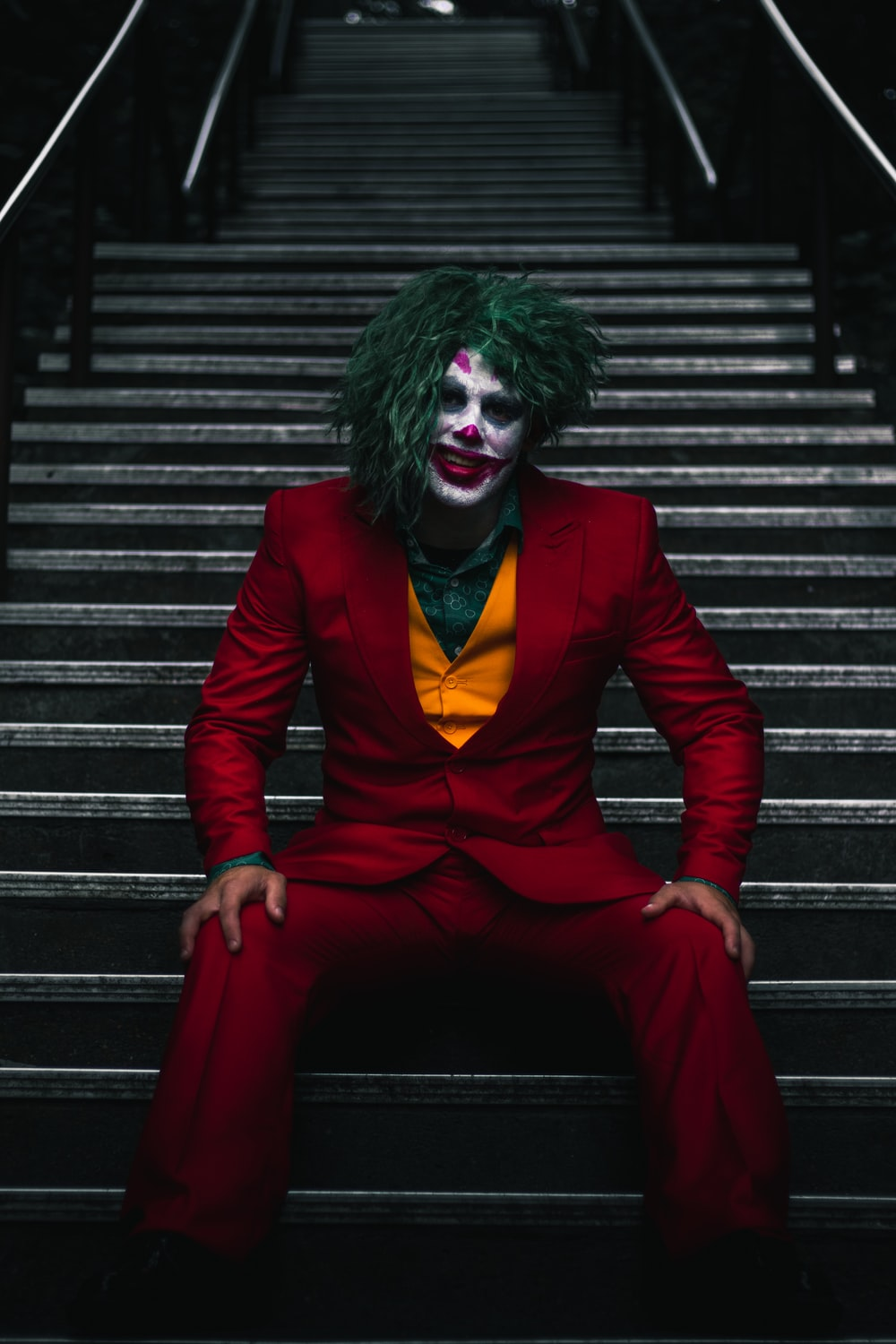 Joker on stairs