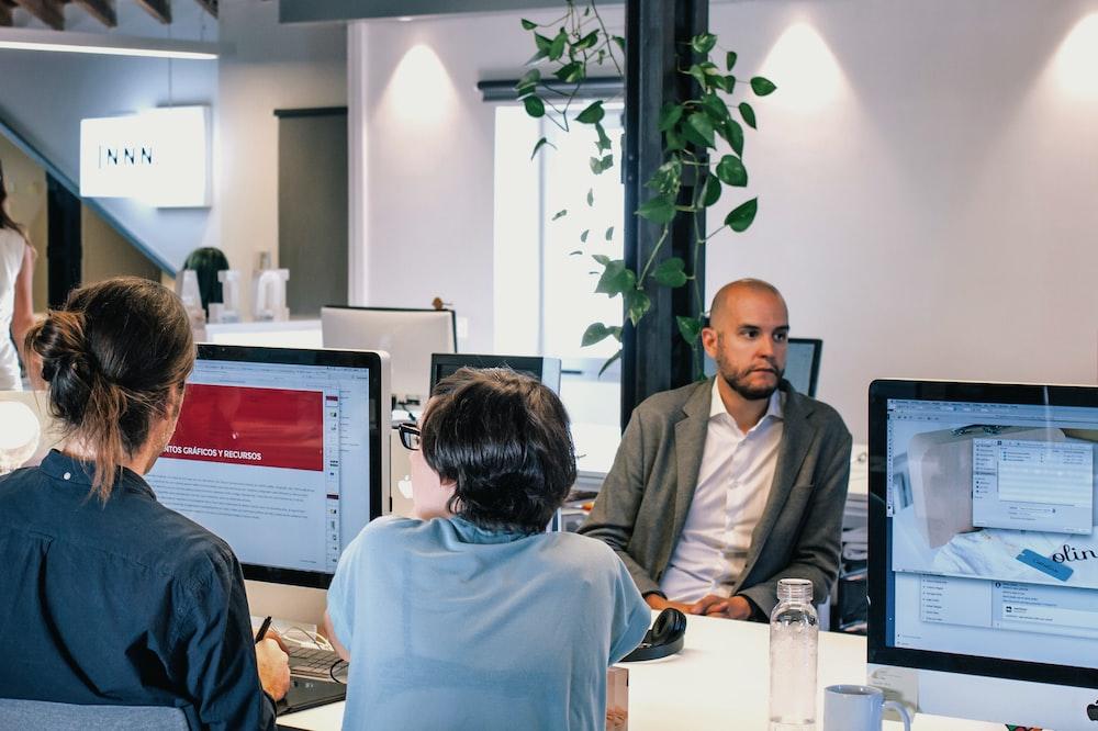 men using computers