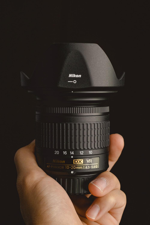 black Nikon zoom Nikkor lens