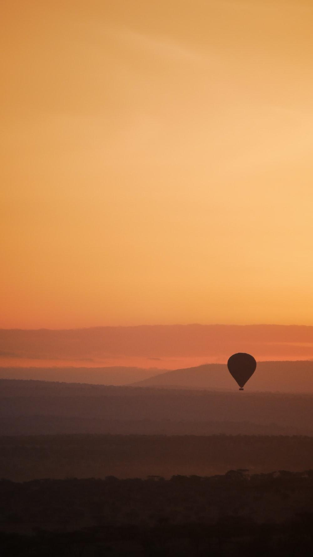 hot air balloon on mid air
