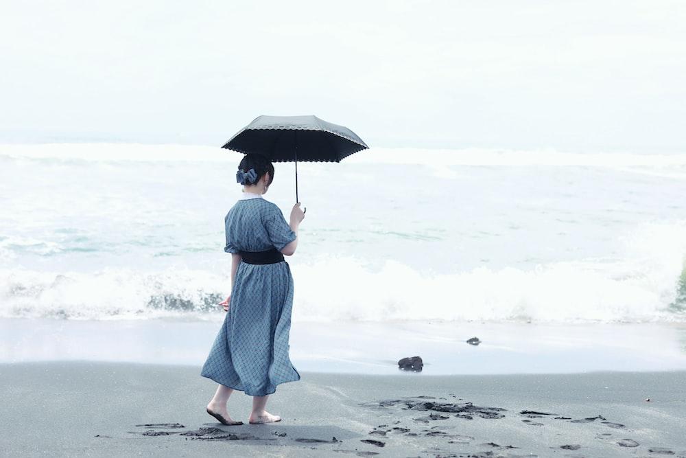 woman under umbrella