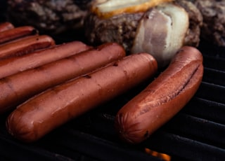 cooked hotdogs