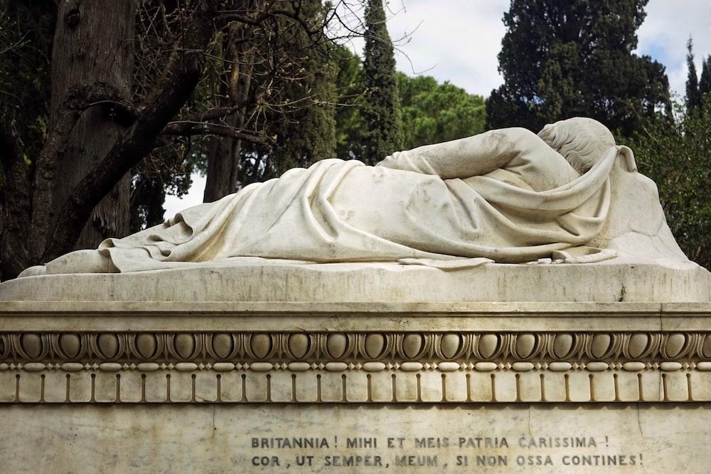 photo of white concrete statue
