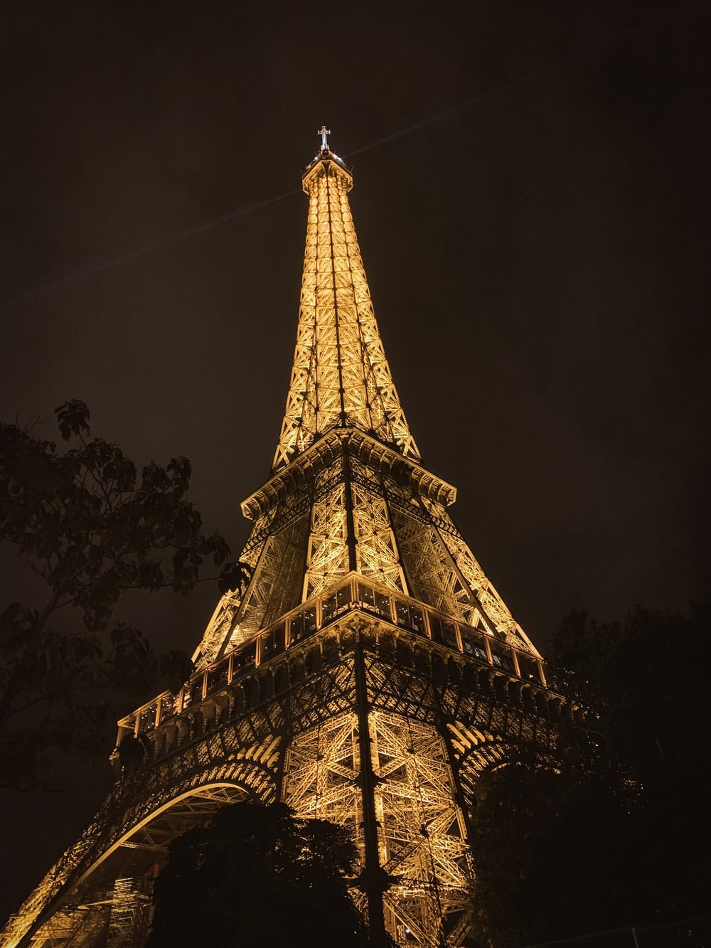 lighted Eiffel tower during nighttime