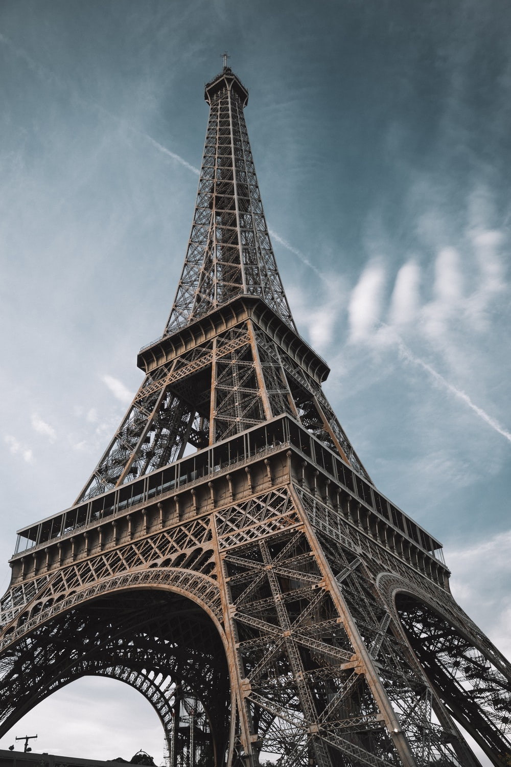macro photography of Eiffel Tower in Paris France