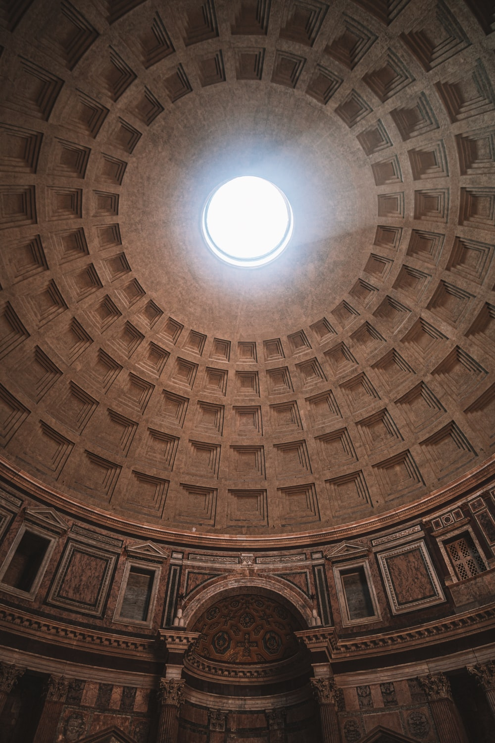 inside Pantheon temple in Rome Italy