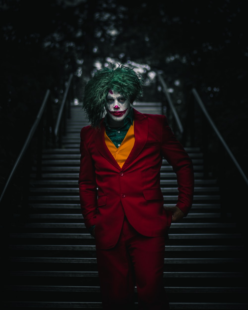 person wearing The Joker costume