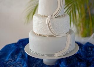 three layered white cake