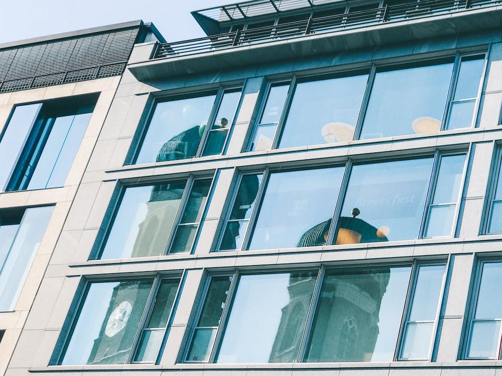 clear glass building windows photo