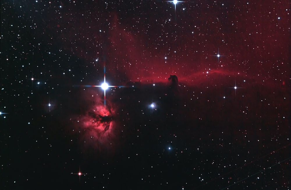red space clouds and stars