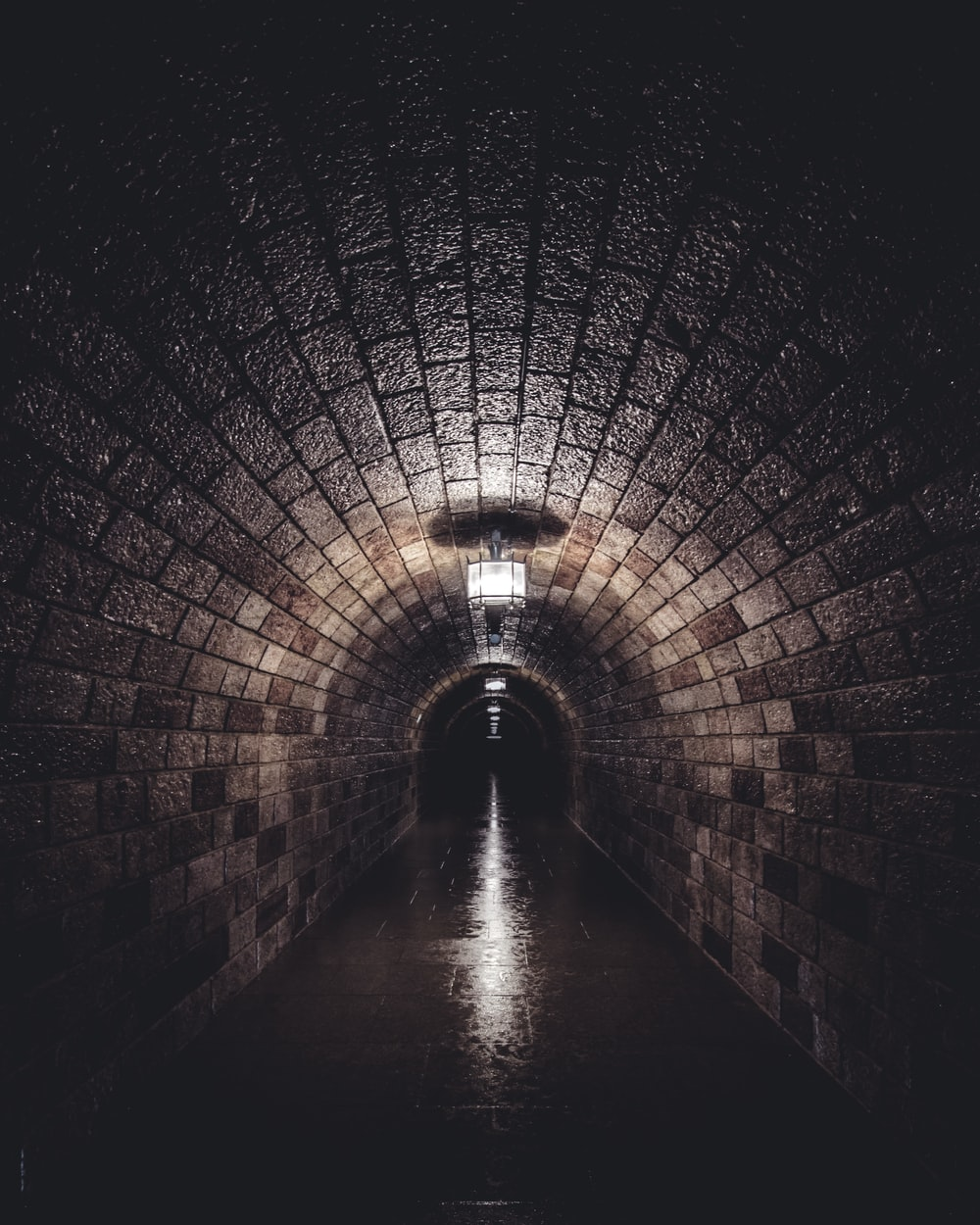 brown empty hallway